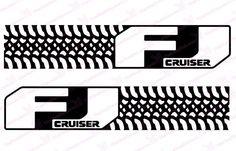 "Toyota FJ Cruiser ""Tire Design"" Negative Carbon Fiber Door Decal Kit"