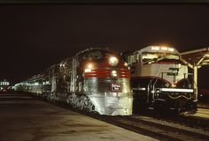Has it REALLY been 20 years? by mlynn72130 on Flickr. Burlington Northern arranged for the Zephyr set led by E5A 9911A to come down from the Illinois Railway Museum in Union. On Jan 9, 1994, the train was posed alongside the first production SD70MAC,...