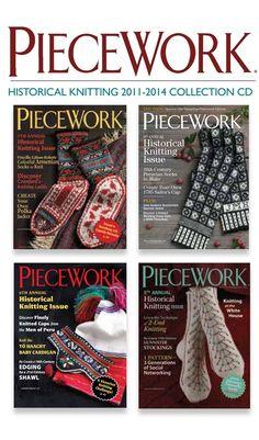 PieceWork Historical Knitting 2011-2014 CD Collection | InterweaveStore.com