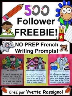 Even my most reluctant writings have NO problem getting started with these cute writing prompts! Kindergarten Writing, Writing Activities, Literacy, French Teaching Resources, Teaching French, School Resources, Communication Orale, Cute Writing, Core French