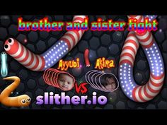 SLITHER.IO - Brother and Sister Fight #3