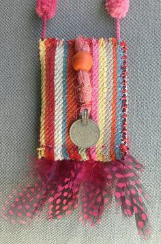 Collier/Bohème ethnique. Multicolore à plumes. par VeronikB sur Etsy