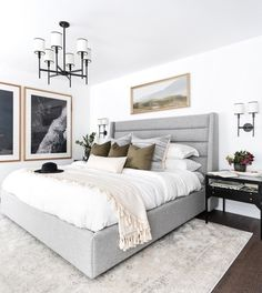Home Interior White master bedroom inspiration.Home Interior White master bedroom inspiration Dream Bedroom, Home Bedroom, Modern Bedroom, Bedroom Ideas, Bedroom Inspiration, Master Bedroom Grey, Master Suite, Black And Grey Bedroom, Light Gray Bedroom