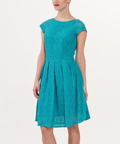 Another great find on #zulily! Amelia Baltic Eyelet Cap-Sleeve Dress by Amelia #zulilyfinds
