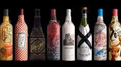 Diseño de botellas de vino Design de la bouteille de vin Weinflaschendesign