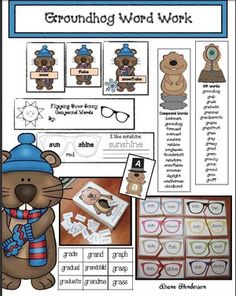 Come Do Some Groundhog Day Activities With Me! I take advantage of all of the February holidays to practice a variety of skills with an interest. Groundhog Day Activities, Word Work Activities, Language Activities, Classroom Activities, Letter Games, Alphabet Games, Alphabet Worksheets, Ground Hog Day Crafts, Compound Words