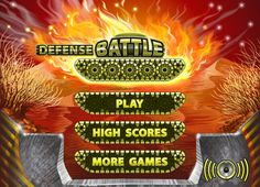 "Game ""Defense Battle"" by Prokofyeva Tatsyana, via Behance"