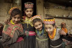 Kalash children, Pakistan.