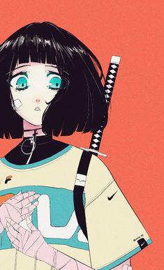Anime Art Girl, Manga Art, Arte Indie, Arte Cyberpunk, Samurai Art, Animes Wallpapers, Japanese Art, Cartoon Art, Aesthetic Anime