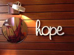 Hand Painted Hope Sign  Hope Sign  Wood Sign Hope  Wood por SunFla