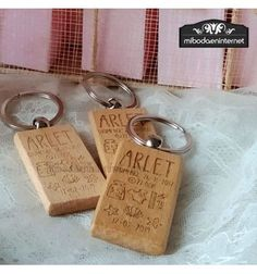 LLavero Bautizo Datos Madera Personalized Items, Pink Gifts, Gift Boxes, Wood