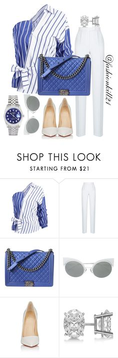 """Untitled #1435"" by fashionkill21 ❤ liked on Polyvore featuring Rasario, Chanel, Christian Louboutin, Allurez and Rolex"