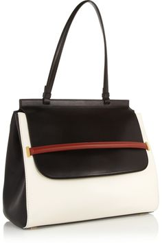 The Row|Color-block leather tote|NET-A-PORTER.COM
