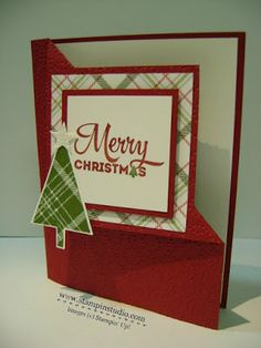 Stampin' Studio, Stampin' Up! Lots of Joy, Christmas Card, Corner Flip, Fun Fold