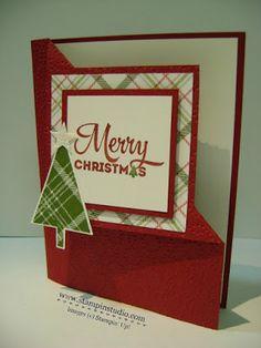 Stampin' Studio, Stampin' Up! Lots of Joy, Christmas Card, Corner Flip, Fun Fold