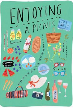 great PICNIC graphic would be nice for sharing a reunion invitation. Love the whimsical ants running through the middle!