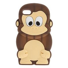 Cute Cartoon 3D Monkey Pattern Soft Silicoe Case for Apple iPod Touch 4/4g/4th Generation