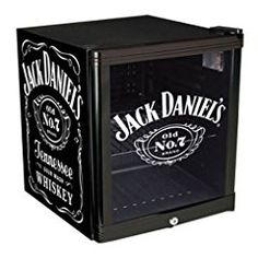 This fabulous Jack Daniels Beverage Chiller both looks great and fufills the task of keeping your favourite beverage cool.  It has the iconic Jack Daniels graphics on both side panels and an etched-look graphic on the double-layered glass door.  It can easily hold a case of drinks and would make a great present for an enthusiast.