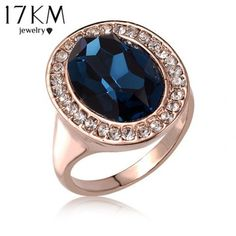 Cheap crystal ring, Buy Quality gold color directly from China rose gold Suppliers: Best Quality Rose Gold Color Luxury Exaggerated Wedding Blue Zircon Crystal Rings Female Statement Jewelry Accessories Cheap Crystals, Stones And Crystals, Blue Zircon, Blue Sapphire, Emerald Green, Rhapsody In Blue, Rose Gold Color, Color Azul, Cocktail Rings