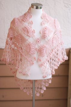 Bridal Shawl Wedding Shawl Shrug Pink Shawl Winter di MODAcrochet