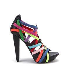 United Nude Elastic Remix - This multi-color heel just makes me smile