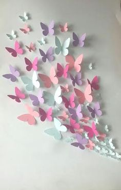 Papier Wand Schmetterling – Wandkunst – Papier Schmetterling von … Paper Wall Butterfly – Wall Art – Paper Butterfly of … Origami Butterfly, Butterfly Wall Art, Paper Butterflies, Butterfly Crafts, Paper Flowers, Beautiful Butterflies, Butterfly Mobile, Diy Butterfly Decorations, Wall Decorations