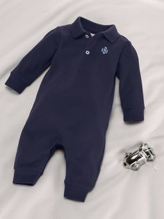 Little Monogrammed Coverall