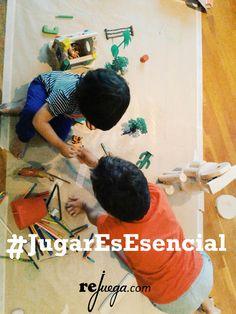 #jugaresesencial para el niño porque por medio del juego se sociabiliza y aprende a resolver sus conflictos.