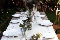 The quiet before the party... Table Settings, Eat, Christmas, Xmas, Place Settings, Navidad, Noel, Natal, Kerst