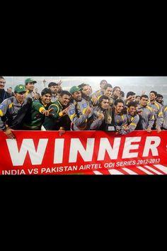 Pakistan cricket team won the ODI series in  India. Winners!