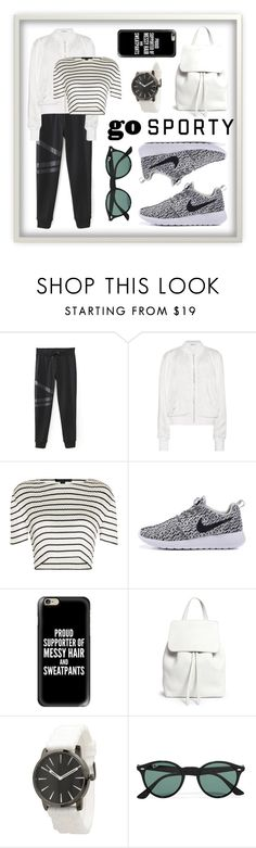 """""""Untitled #19"""" by nadjasp ❤ liked on Polyvore featuring T By Alexander Wang, Alexander Wang, Casetify, Mansur Gavriel, Olivia Pratt and Ray-Ban"""