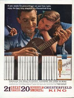 ads for cigarettes in magazines