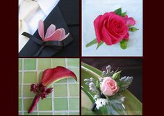 flowers red pink boutonniere