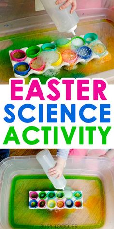 Easter Science Activity - such a fun Easter activity that kids love! This quick and easy science activity is perfect for toddlers and preschoolers. activities for kids toddlers Best Easter Science Activity Easter Activities For Toddlers, Preschool Science Activities, Easy Science, Easter Crafts For Kids, Science For Kids, Toddler Crafts, Easter Crafts For Preschoolers, Science Experiments, Easter Games