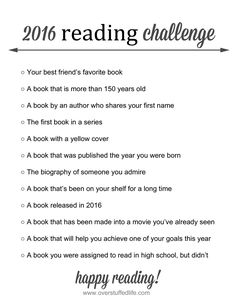 Are you up for a fun reading challenge? Only 12 books that will help you to branch out on your reading this year, but can still manage to fit what might already be on your to-read list. #overstuffedlife