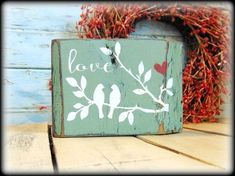 Farmhouse Style Mantel Display, Green Shelf Sitter, Rustic Home Decor, Valentines Day Gift, Love Birds - Tap The Link Now To Find Decor That Make Your House Awesome Diy Valentine's Day Decorations, Valentines Day Decorations, Valentine Day Crafts, Decor Ideas, Valentines Day Decor Rustic, Outdoor Decorations, Craft Ideas, Decor Diy, Valentine Ideas