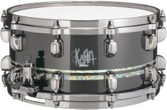"David Silveria (Korn) Signature  Size: 6.5""x 14"" Material: 13ply 10mm G-Maple Shell Finish: Piano Black Double Abalone Inlays (10mm & 5mm) Hardware Finish: Brushed Black Nickel Lugs: MSL-SCT in Brushed Black Nickel 	 Strainer: MUS80A in Brushed Black Nickel Butt: MUS80B in Brushed Black Nickel Snappy: MS20SN14S Hoop: Die-Cast Batter Head: REMO Ambassador Coated Bottom Head: REMO Snare Side"