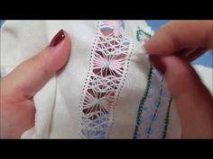 Vídeo 22 vainica de fraile de 4 con cruces superiores e inferiores - YouTube