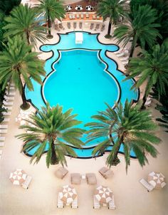 Miami - The famous pool at the Raleigh was once home to Esther Williams' swimming routines.