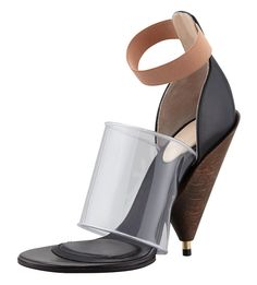 Givenchy PVC Banded Cone-Heel Boot