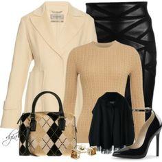 Versace Leather Skirt
