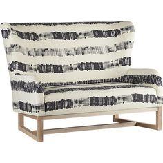 suitor graphite stripe loveseat in view all furniture | CB2