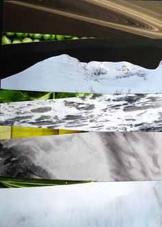 Landscapes/Greens #collageart #collage #papier #decoratie #interieur #space #abstract #byboefje Collage Art, Tapestry, Landscape, Abstract, Unique, Frame, Handmade, Etsy, Paper