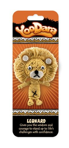 YooDara Good Luck Charms - Leonard gives you the wisdom and courage to stand up to life's challenges with confidence. #voodoo doll #string doll