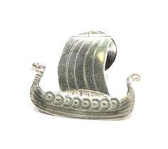Sterling Silver Viking Ship Pin