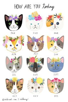 Bernstein & Andriulli – Neiko Ng – Animal We are want to say thanks if you like to share this post t Buch Design, Motifs Animal, Cat Drawing, Crazy Cats, Cat Art, Cats And Kittens, Cats Meowing, Cute Cats