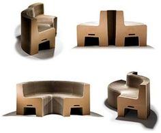 Canapé en carton extensible FlexibleLove - Chishen Chiu design