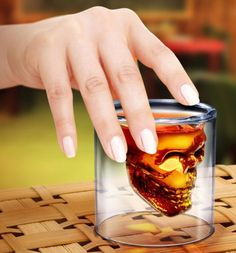 Awesome Skull Shot glass! http://themostcoolgadgets.com/cool-skull-shot-glass/