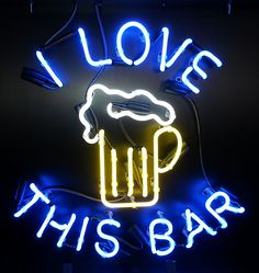 I Love This Bar Custom #Neon Bar Sign http://www.neonandmore.com/neon-signs/custom-neon-signs.html