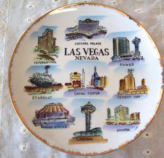 Souvenir Las Vegas plate. Love that kitchen kitsch! At Retro Rosie's Vintage.